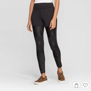 Women's High Waist Moto Leggings - A New Day™ Blac